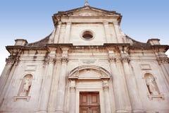 Architecture Naissance de notre église de Madame en ville Prcanj, Montenegr photographie stock libre de droits