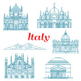 Architecture and nature travel landmarks of Italy Stock Image