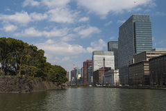Architecture in the Nijubashimae distric of Tokyo Stock Photography