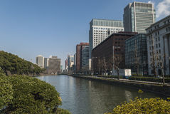 Architecture in the Nijubashimae distric of Tokyo, Royalty Free Stock Photo