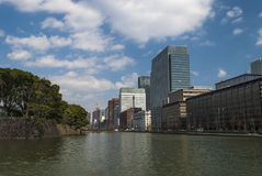 Architecture in the Nijubashimae distric of Tokyo, Royalty Free Stock Image