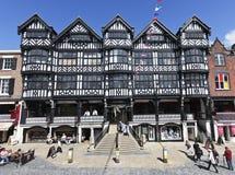 Architecture noire et blanche à Chester Photos stock