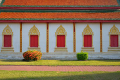 Architecture of northern thailand in temple buddhism Royalty Free Stock Photography