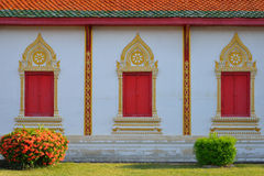 Architecture of northern thailand in temple buddhism at Wat Phra Stock Photo