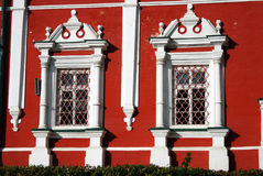Architecture of Novodevichy convent in Moscow. Stock Photo