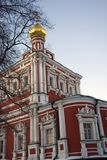 Novodevichy convent in Moscow. Old cathedral Royalty Free Stock Photo