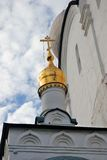 Architecture of Novodevichy convent in Moscow. Smolensk Icon church Stock Photo