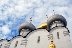 Architecture of Novodevichy convent in Moscow. Smolensk Icon church Stock Image
