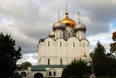 Architecture of Novodevichy convent in Moscow. Smolensk Icon church Stock Images