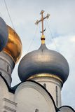 Architecture of Novodevichy convent in Moscow. Smolensk Icon church Royalty Free Stock Photos