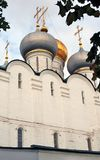 Architecture of Novodevichy convent in Moscow. Smolensk Icon church Royalty Free Stock Photo