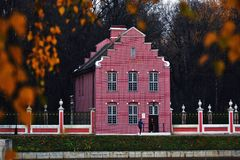 Architecture Of Kuskovo Park In Moscow. Autumn Nature. Royalty Free Stock Photo