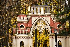 Free Architecture Of Tsaritsyno Park In Moscow, Russia. Grape Gates Stock Photos - 161510493