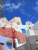 Architecture at Oia, Santorini, Greece Royalty Free Stock Photos