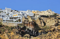 Architecture of Oia village Royalty Free Stock Photo