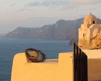 Architecture of Oia village, Santorini, Greece Royalty Free Stock Photography