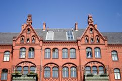 Architecture, the old brick house Stock Photography