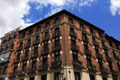 The architecture of the old buildings, Madrid, Spain Royalty Free Stock Photography