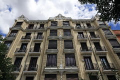 The architecture of the old buildings, Madrid, Spain Royalty Free Stock Photos