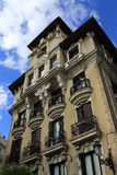 Architecture of the old buildings, Madrid, Spain Stock Photography