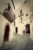 Architecture of old city of Ibiza, Spain Royalty Free Stock Photos