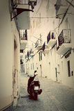 Architecture of old city of Ibiza, Spain Stock Image