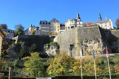 The old city of Luxembourg Royalty Free Stock Photo