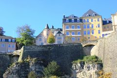The old city of Luxembourg Stock Photos