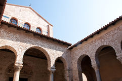 Architecture of an old Croatian cathedral from Rom Stock Photos
