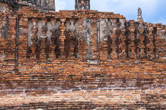 Architecture old disign Wat Chai Wattanaram Royalty Free Stock Photos
