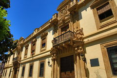 The architecture of the old houses in Córdoba, Spain. The Picture of the architecture of the old houses in Córdoba, Spain royalty free stock images