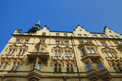 The architecture of the old houses, Old Town, Prague, Czech Republic Stock Photos