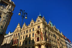 The architecture of the old houses, Republika Square, Prague, Czech Republic Stock Images