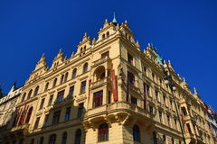 The architecture of the old houses, Republika Square, Prague, Czech Republic Stock Photo