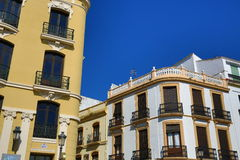 The architecture of the old houses in Ronda, Andalusia, Spain Royalty Free Stock Photos