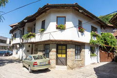 Architecture in Old Lovech, Bulgaria stock photography