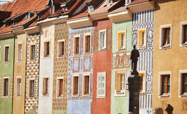 Architecture of Old Market in Poznan, Poland Stock Images