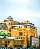 Architecture. Old and modern architecture, Moscow Royalty Free Stock Photos