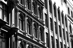 Architecture of Old Montreal. Ornate architecture of old Montreal in Canada Royalty Free Stock Photography