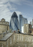 Architecture. Old and new buildings in London, UK stock photo