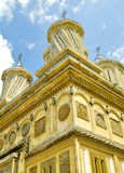 Architecture of an old orthodox monastery. Curtea de Arges monastery in Romania with beautiful architecture Royalty Free Stock Photo
