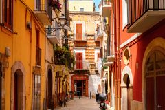 Architecture of the Old Town of Bari, Italy. BARI, ITALY- MAY 9, 2016: Architecture of the Old Town of Bari, Italy. Bari is the capital Apulia region, on the Stock Photos