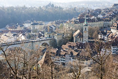 Architecture of Old Town of Bern in Switzerland Royalty Free Stock Photos