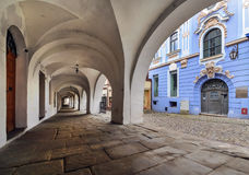 Architecture in the old town of Bielsko-Biala Stock Images