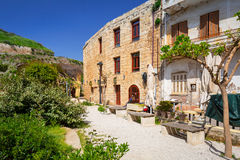 Architecture of the old town in Chania. Beautiful architecture of Venetian port in Chania, Greece Stock Images