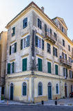 Architecture in the old town of Corfu island, Greece Royalty Free Stock Photography