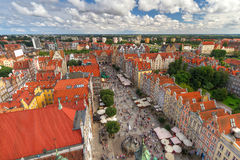 Architecture of old town in Gdansk Stock Photography