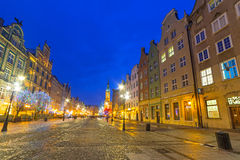 Architecture of old town in Gdansk. Poland Royalty Free Stock Photo