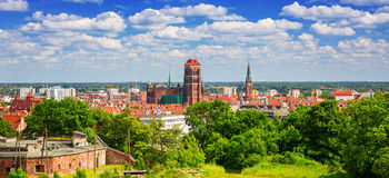 Architecture of the old town in Gdansk Stock Photography