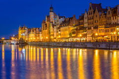 Architecture of the old town in Gdansk Royalty Free Stock Image